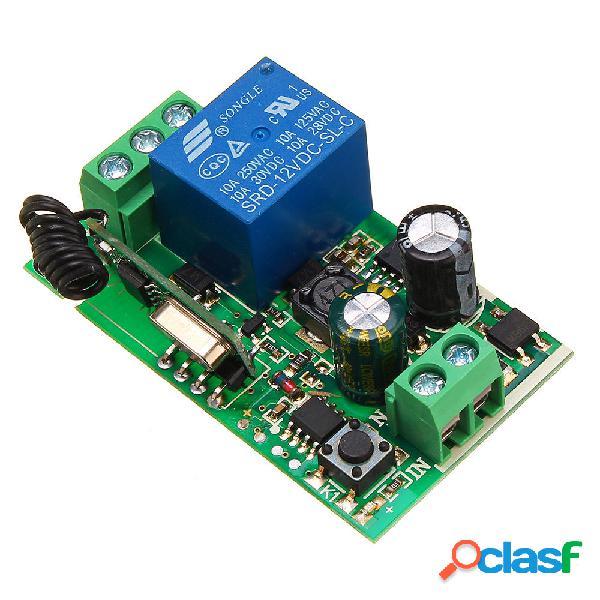 Relè wireless 1 canale 433 MHz 220 V 10A 1CH Relè remoto