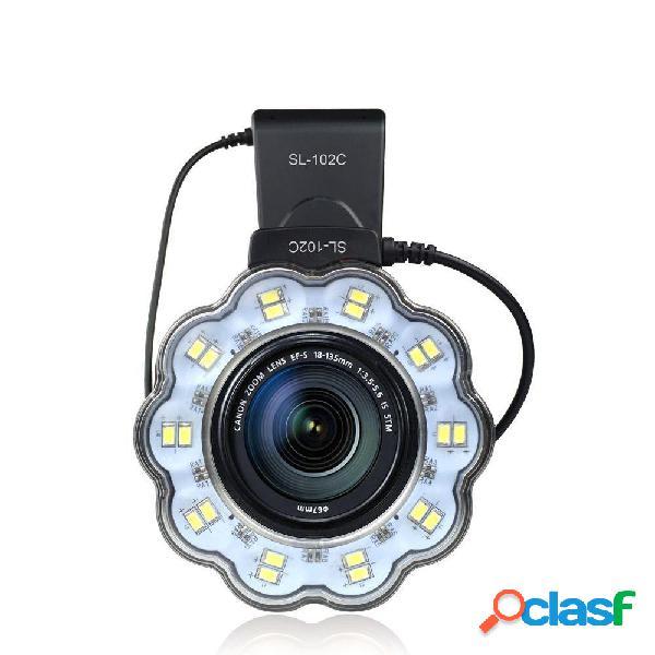 SL-102C Macro LED Anello video Flash Luce per Canon 650D
