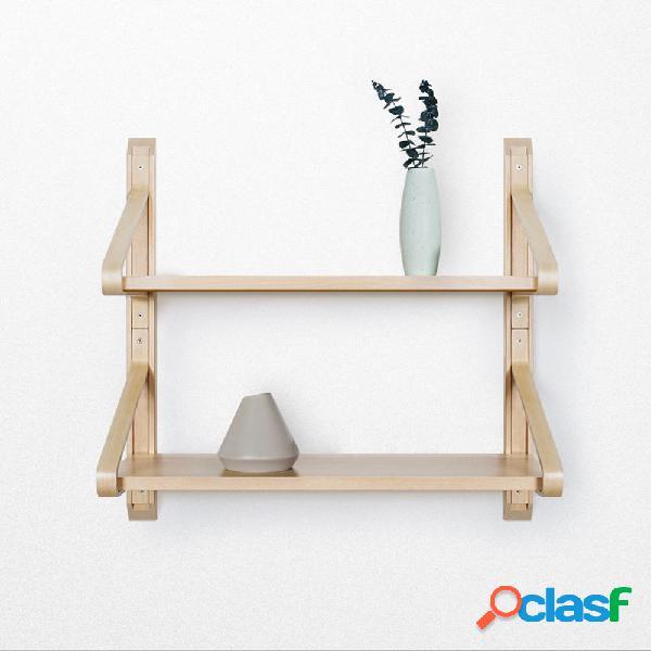 Scaffale Mensola HuoXu in legno massello naturale Supporto