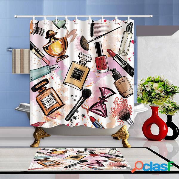 Set di tende per doccia da bagno cosmetiche impermeabili con