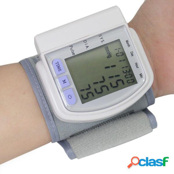 Sfigmomanometro digitale LCD Misuratore di battito cardiaco