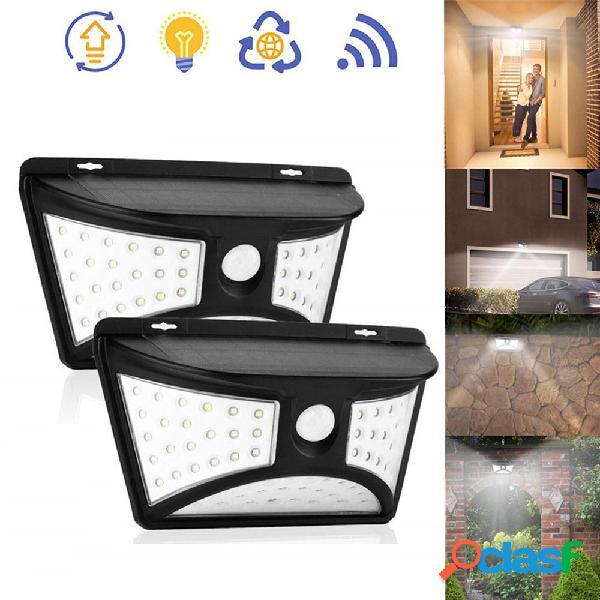 Solar Power 68 LED Lampada da parete PIR Sensore di