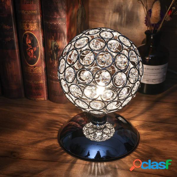 Tavolo moderno con sfera di cristallo lampada Comodino