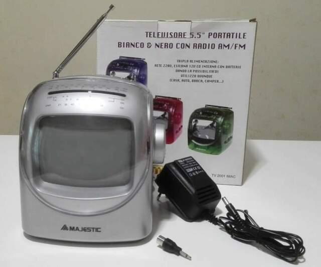 """Televisore TV Vintage portatile Majestic 5.5"""" TV  IMAC"""