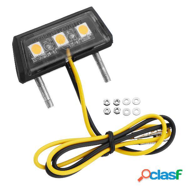 Universal Moto LED Licenza Piatto Luci 3 colori per