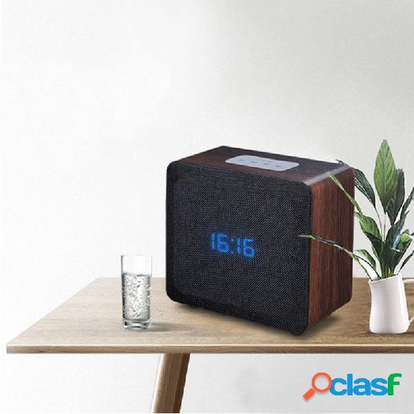 Wireless Bluetooth Altoparlante Sveglia Wooden Home Retro