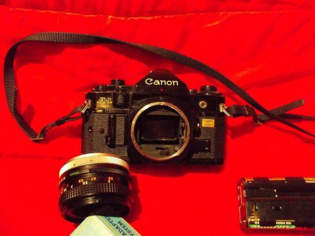 Macchina fotografica canon a-1 reflex anni '80