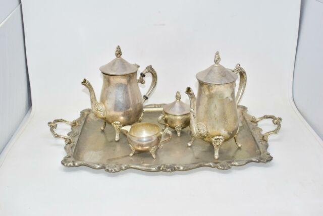 Servizio Da Tè E Caffè Completo In Bagno Argento