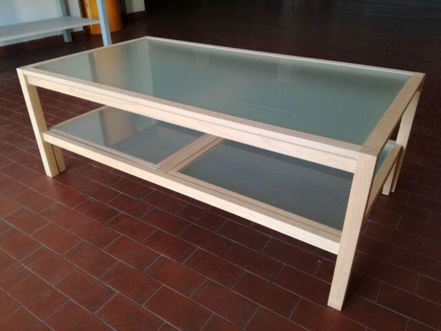 Tavolino da salotto in legno di faggio al grezzo