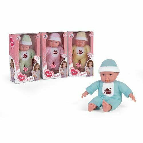 Bambola assortita nei vestiti che parla, piange e ride.