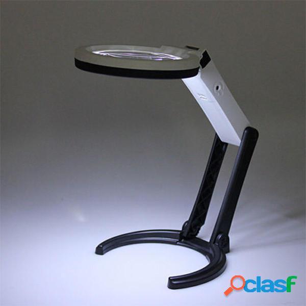 10 LED illuminazione lampada da tavolo palmare con 1.8x 5x