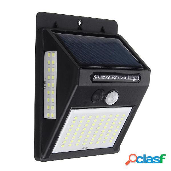 100 LED solare Lampada da parete elettrica PIR Sensore di