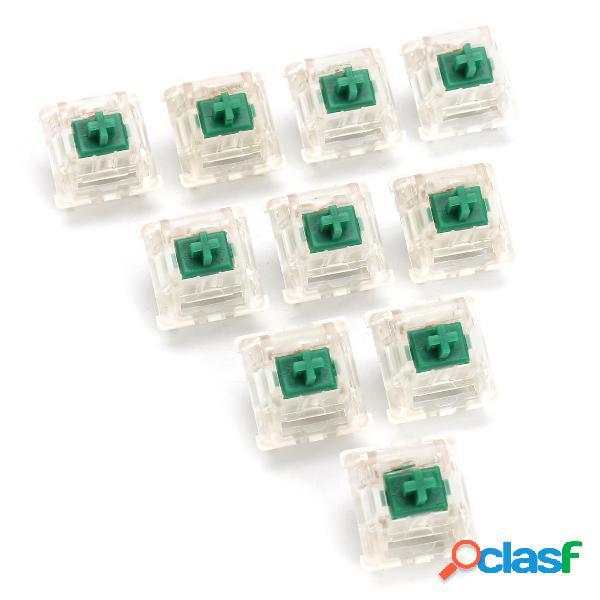 10Pcs 3 Pin DIP LED Interruttore verde per la tastiera