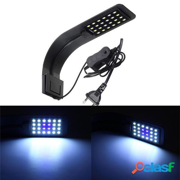 10W 24 LED Lampada Acquario per Pianta con Clip AC220V