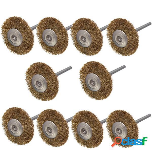 10pcs 3mm gambo spazzole ruota filo di ottone per utensile