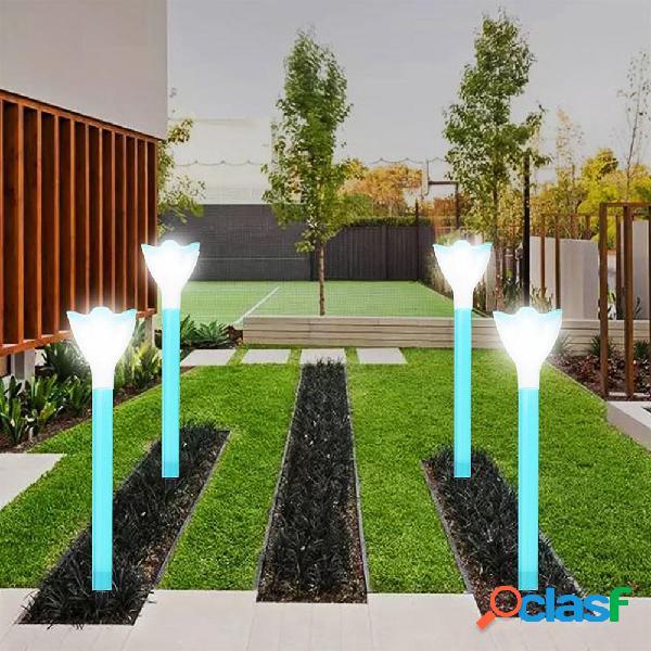 10pcs LED solare Power Garden Path Yard Light Lampade Prato
