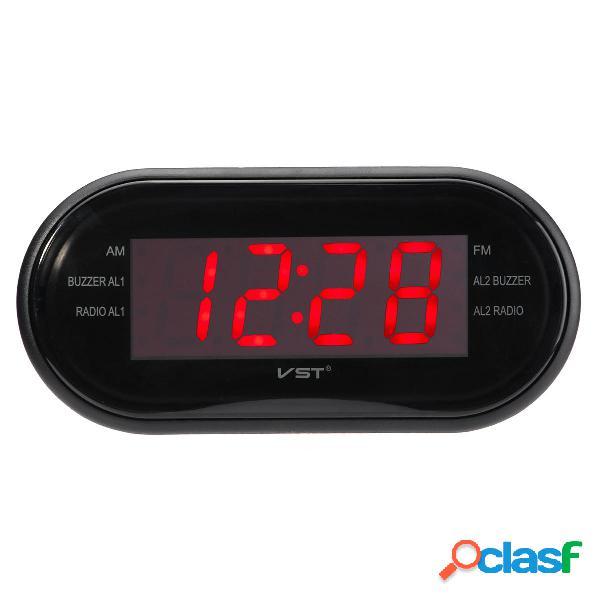 """1/2 """"LED Display Timer sveglia AM / FM Radio Sistema 24 ore"""