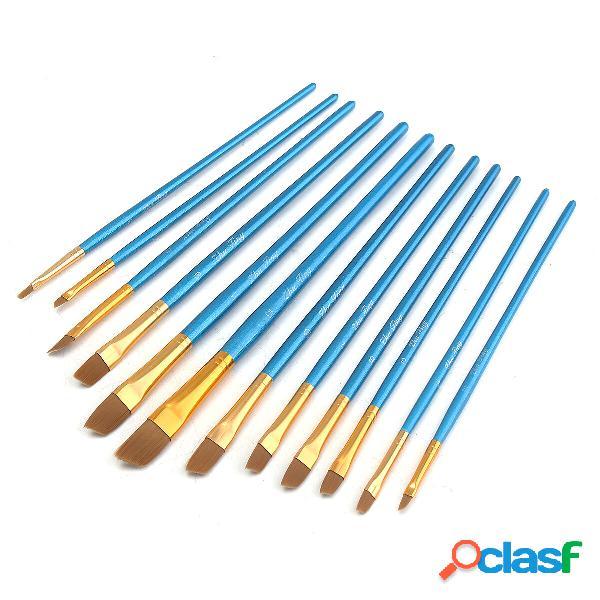 12 pezzi picco blu obliquo picco oblò Nylon Capelli Olio