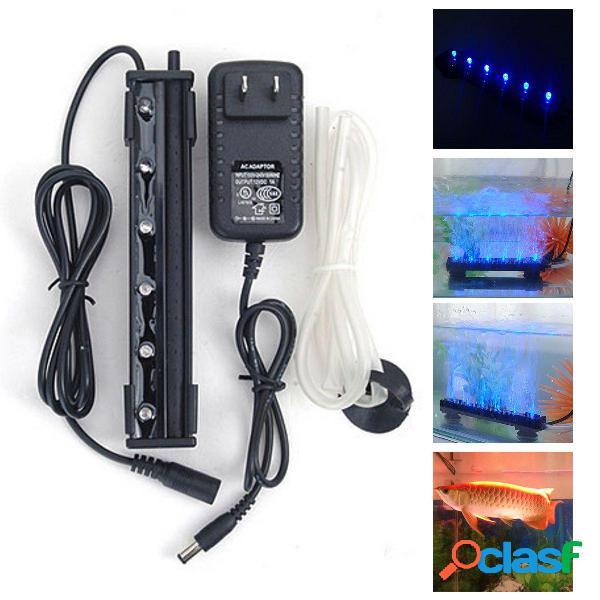 12V 1.2W 6 LED Luce di bolla dell'aria blu sotto acqua