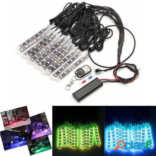 12x LED remoto Kit di striscia di neon senza fili per il
