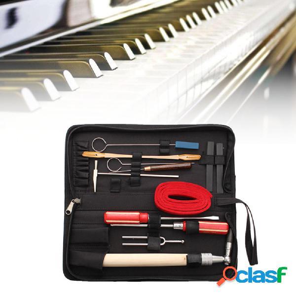 13Pcs Kit di strumenti di manutenzione per pianoforte di