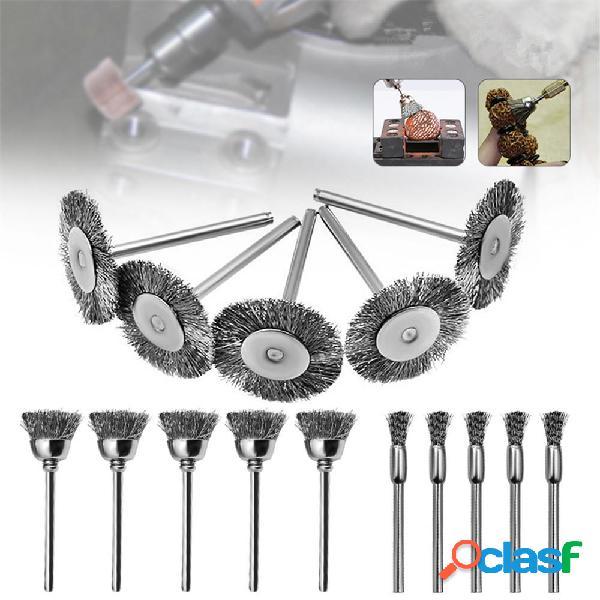 15pcs Lucidatura Spazzole Ruota per cavi in acciaio per