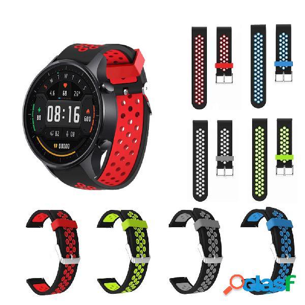 22mm Dual Color Silicone Cinturino per orologio Banda