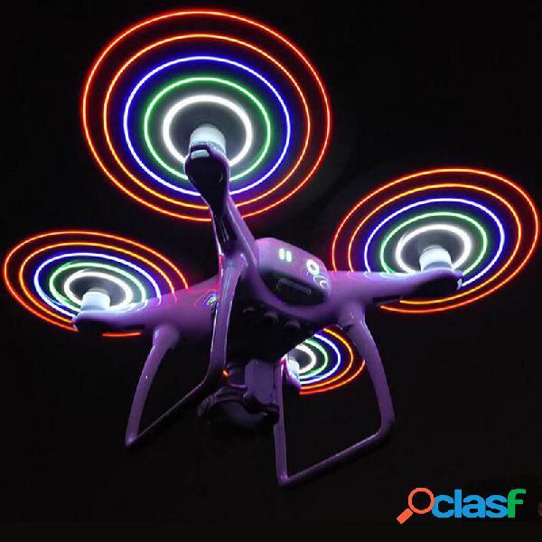 2Pcs Colorful Flash LED Elica 9450 Blade Caricatore USB