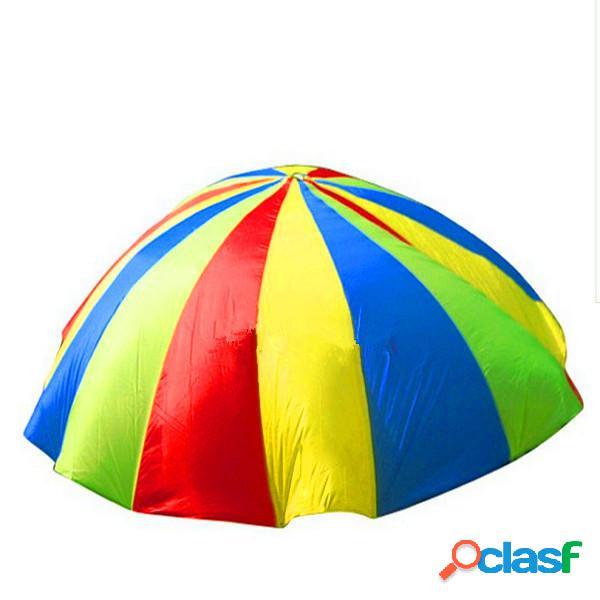 2m bambino all'aperto ombrello arcobaleno paracadute