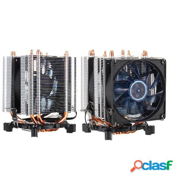 3 Pin Four Rame Pipes Ventola di raffreddamento CPU con