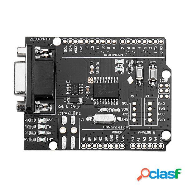 3PCS SPI MCP2515 EF02037 CAN BUS Shield Scheda di sviluppo
