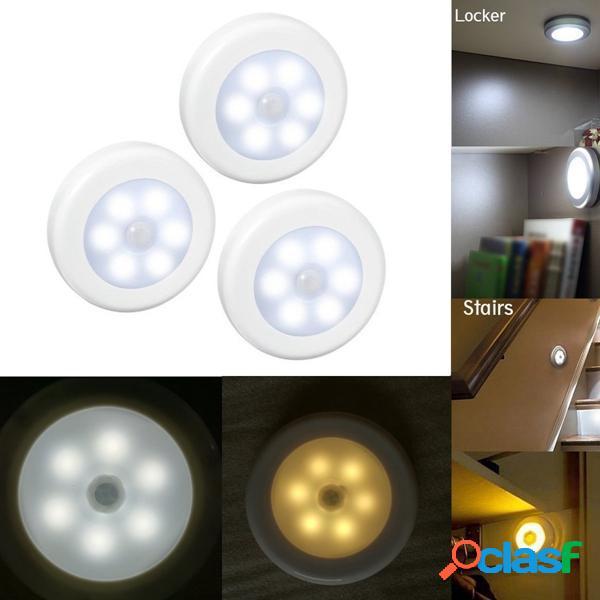 3pcs PIR senza fili del sensore di movimento del LED luce di