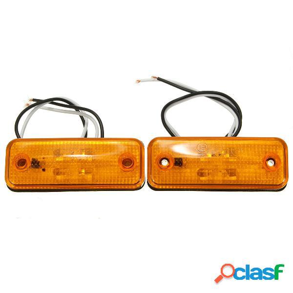4 LED indicatore laterale della lampada spia per camion bus