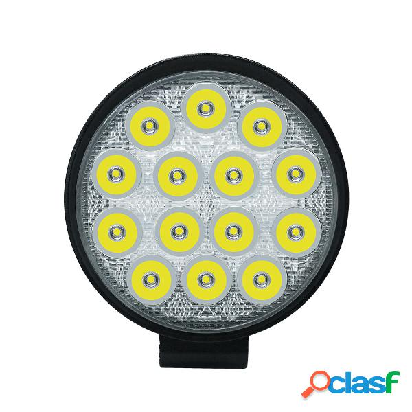 42W 6000K IP68 rotondo LED luce spot di lavoro guida lampada