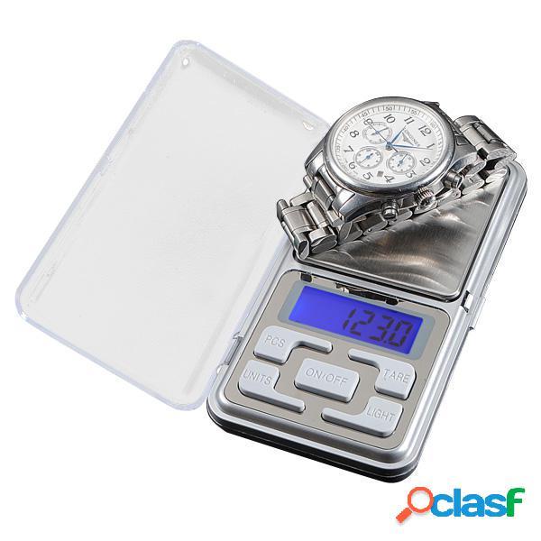 500g x 0.1g Bilancia elettronica portatile portatile Gram