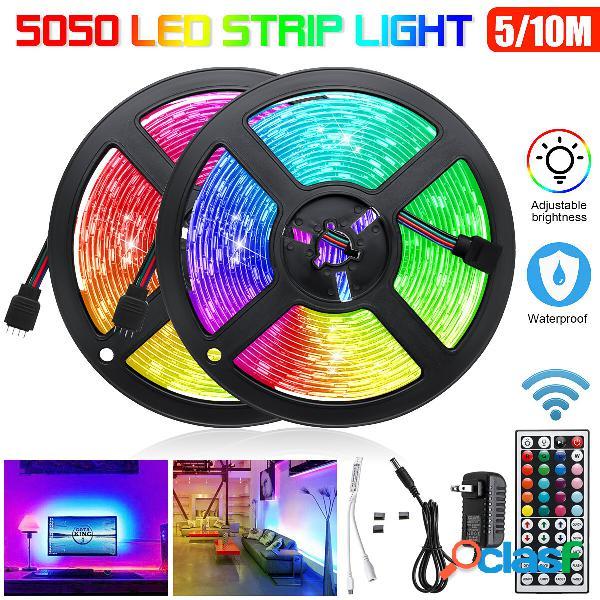 5M / 2X5M RGB impermeabile 5050 LED luce di striscia + 44