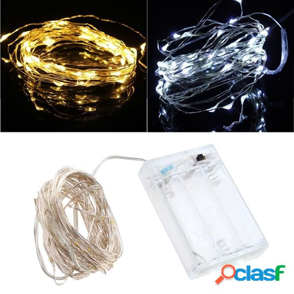 5M 50 LED String Fairy Light Batteria Operated Christmas