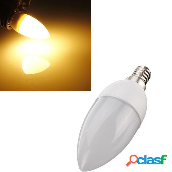 5XE14 2835 SMD 3W bianco caldo LED candela lampadina ac