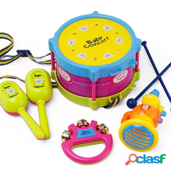 5pcs Baby Roll Drum Strumenti musicali per bambini Drum Set