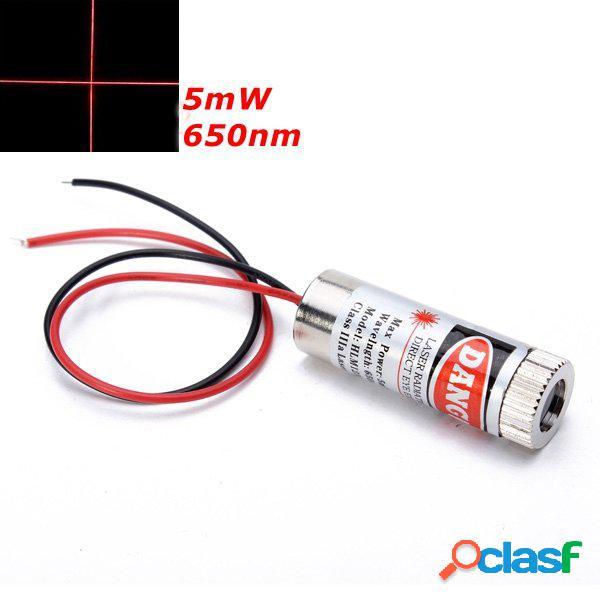 650nm 5mW Modulo Laser Rosso a Croce con Messa a Fuoco Diodo