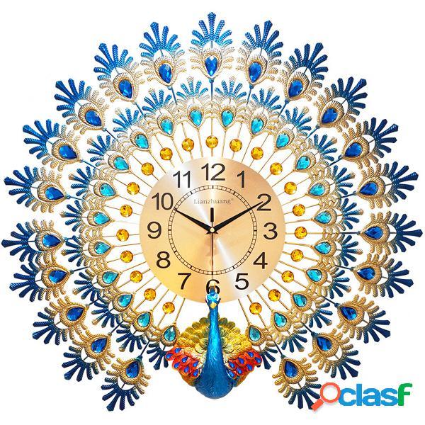 70 * 65 cm moderno grande pavone orologio da parete orologio