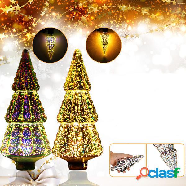 AC85-265V E27 4W Fuochi dartificio 3D con albero di Natale