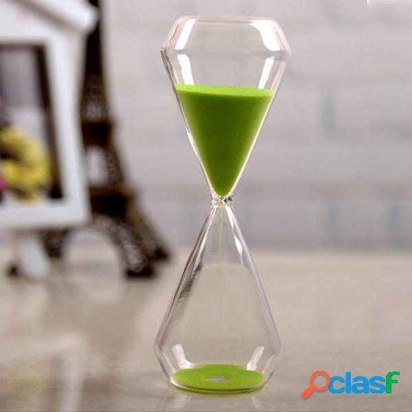AUGIENB 30 minuti di sabbia clessidra giocattolo da tavolo