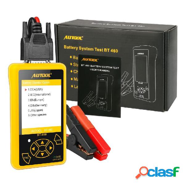 AUTOOL BT460 12V 24V Batteria Analizzatore diagnostico per