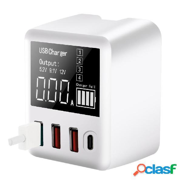 Bakeey 30W QC3.0 PD digitale multiporta Display Ricarica