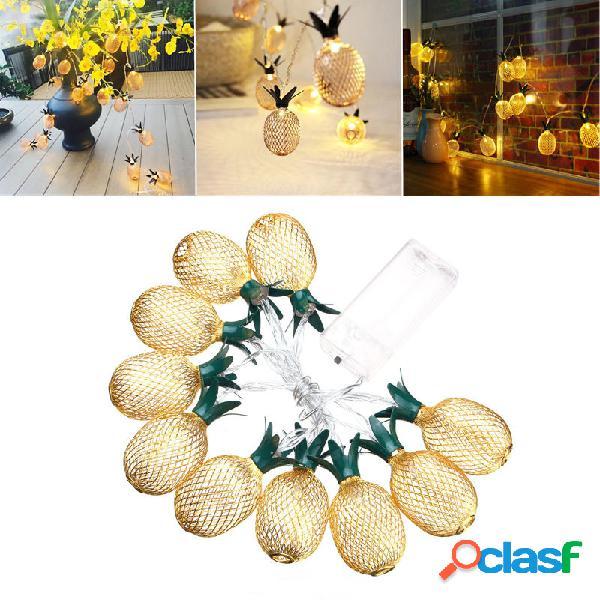 Batteria Luce a strisce bianca calda a forma di ananas in