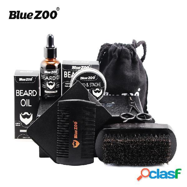 BlueZoo® 7Pcs Natural Beard Capelli Set di styling