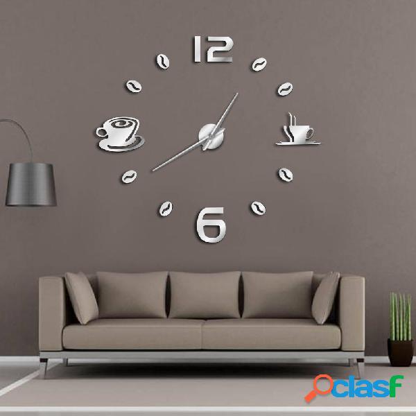 Cafe Orologio da parete grande fai-da-te Orologio da parete