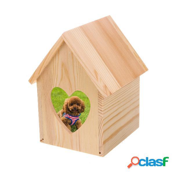 Cofanetto per animali Gatto di legno Cane Cremazione