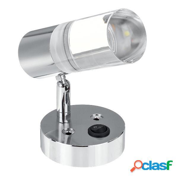 Controllo pulsante 12 V-24 V LED Lettura Spot Spot Girevole